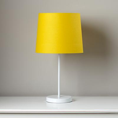 Light Years Yellow Table Shade and White Base