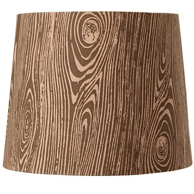 Woodgrain Table Shade