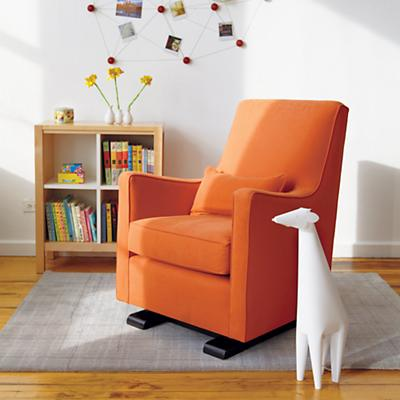 Luca Glider & Ottoman (Orange)