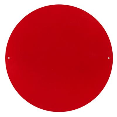 "12"" Circle Magnet Board (Red)"