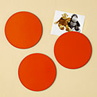 Orange Circle Magnets Set of 3