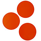 Orange Circle Magnets (Set of 3)