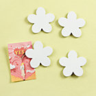 White Flower Magnets (Set of 4)
