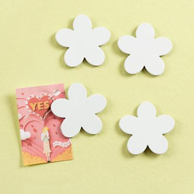 White Flower Magnets (Set of 4)