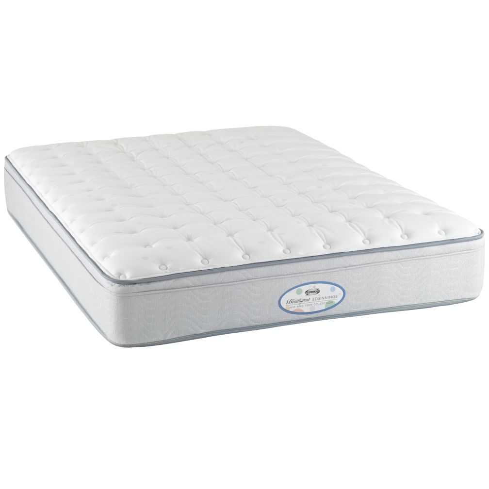 Full Simmons Beautyrest Beginnings Euro Top Mattress
