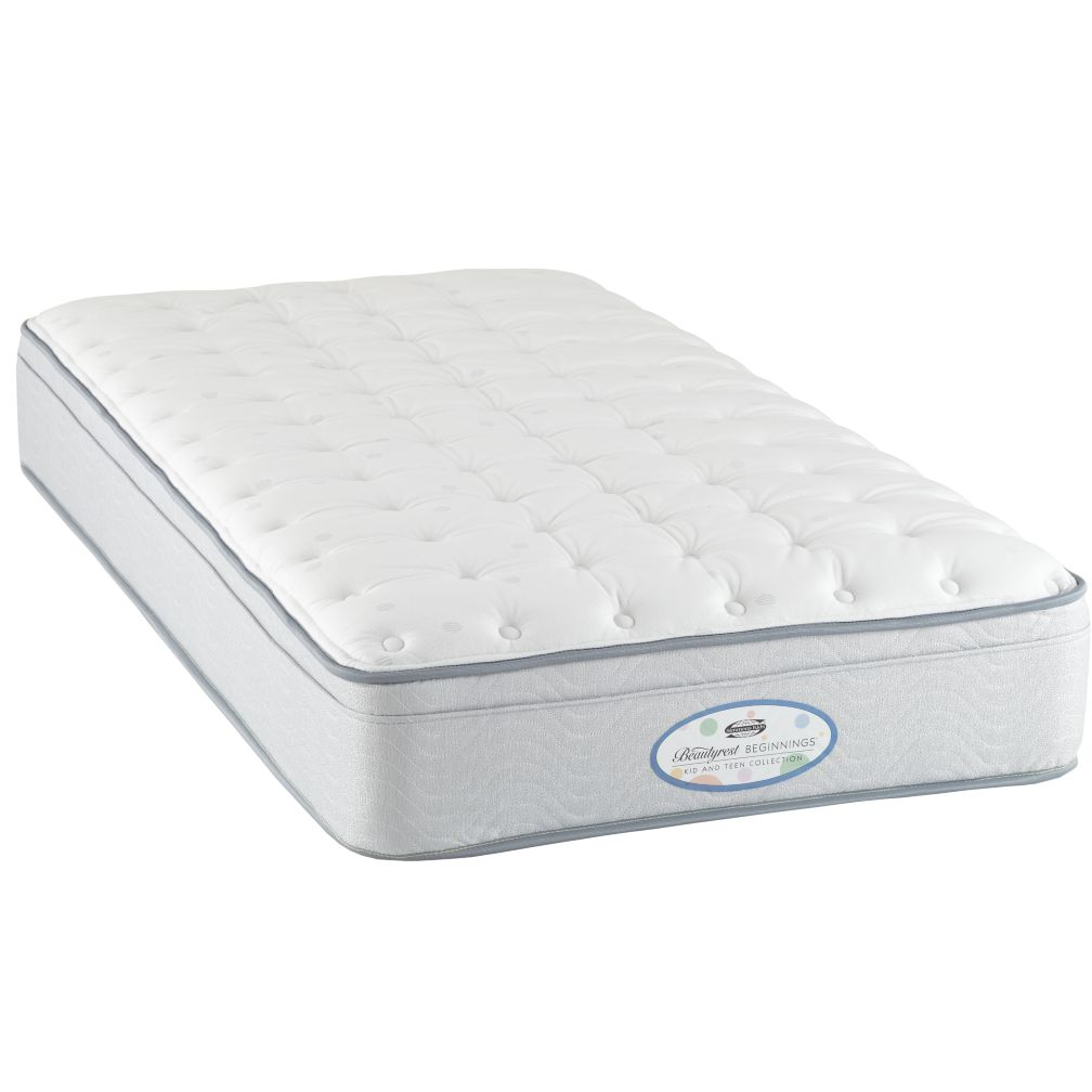 Twin Simmons Beautyrest Beginnings Euro Top Mattress