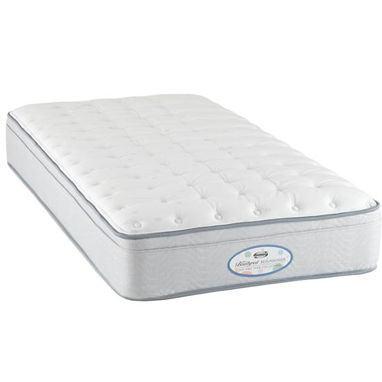 Twin Simmons Beautyrest Euro Top Mattress The Land Of Nod