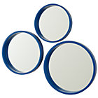 Blue Circle Mirror Set of 3