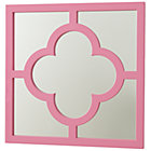 Pink My Lucky Four Leaf Mirror
