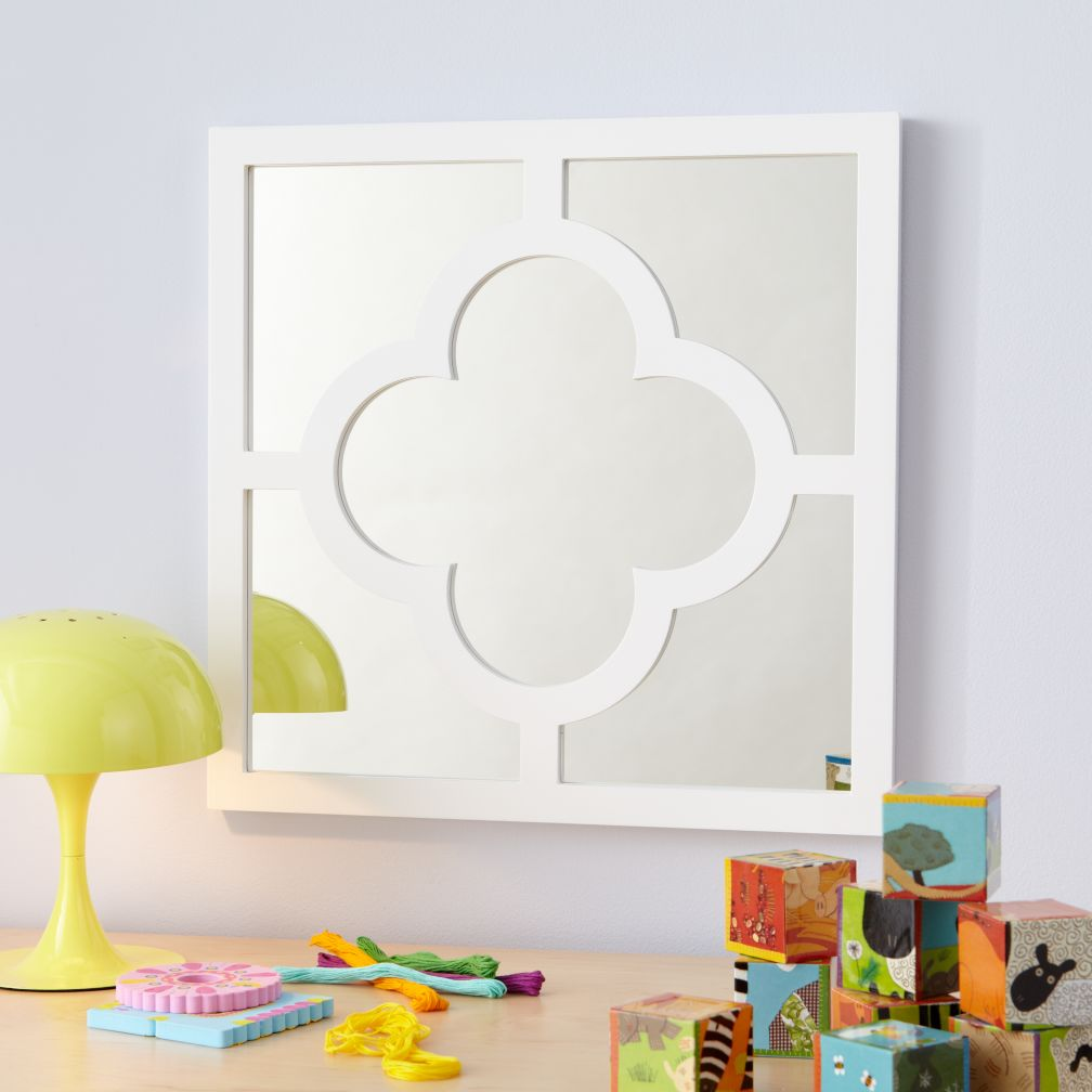 My Lucky Four-Leaf Mirror (White)