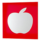 Red Cut it Out Apple Mirror