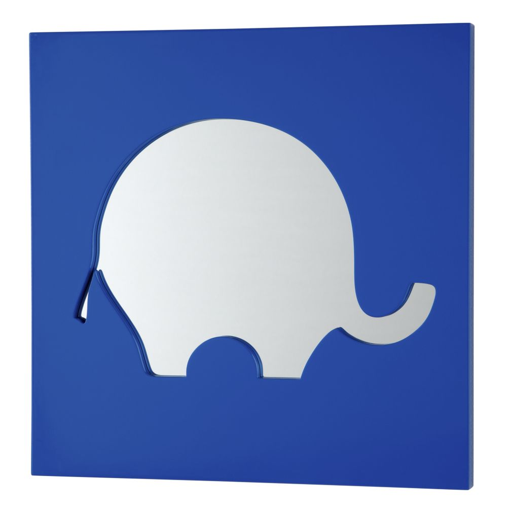Cut It Out Mirror (Blue Elephant)