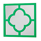 Green Lucky Four-Leaf Mirror