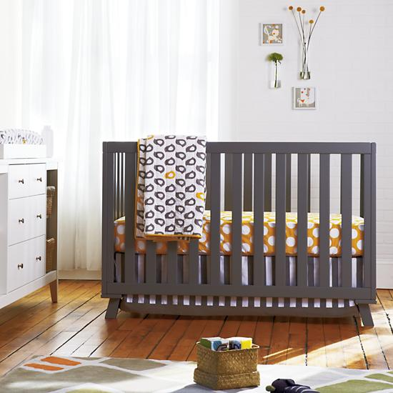 Baby Crib Bedding Baby Grey Yellow Patterned Crib
