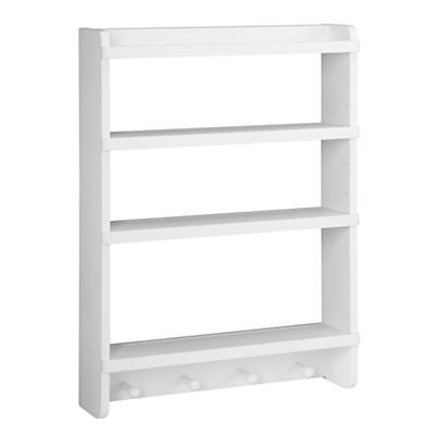 Straight & Narrow Wall Rack (White)