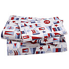 Twin Nautical Print Sheet Set(includes 1 fitted sheet, 1 flat sheet and 1 case)