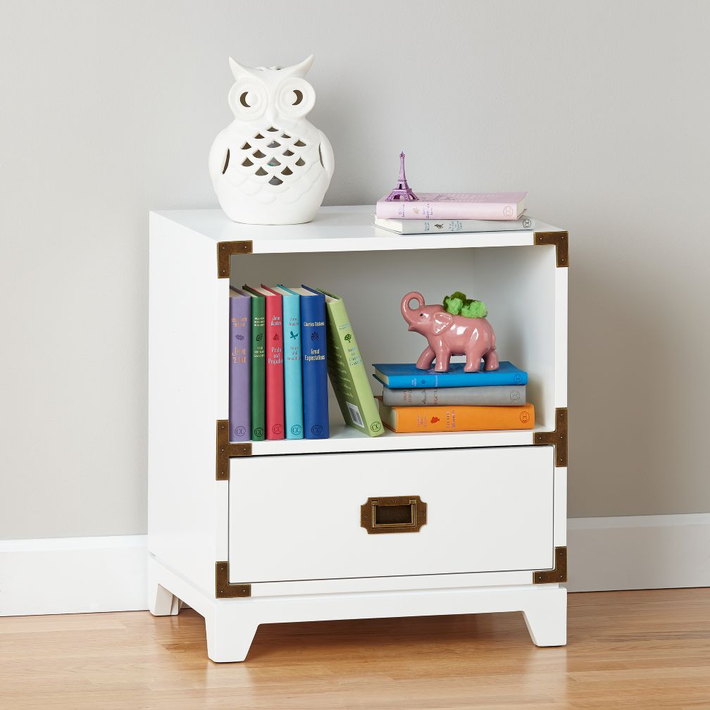 Campaign Nightstand (White)