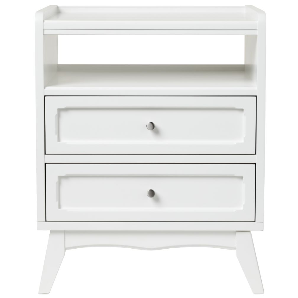 White Monarch Nightstand