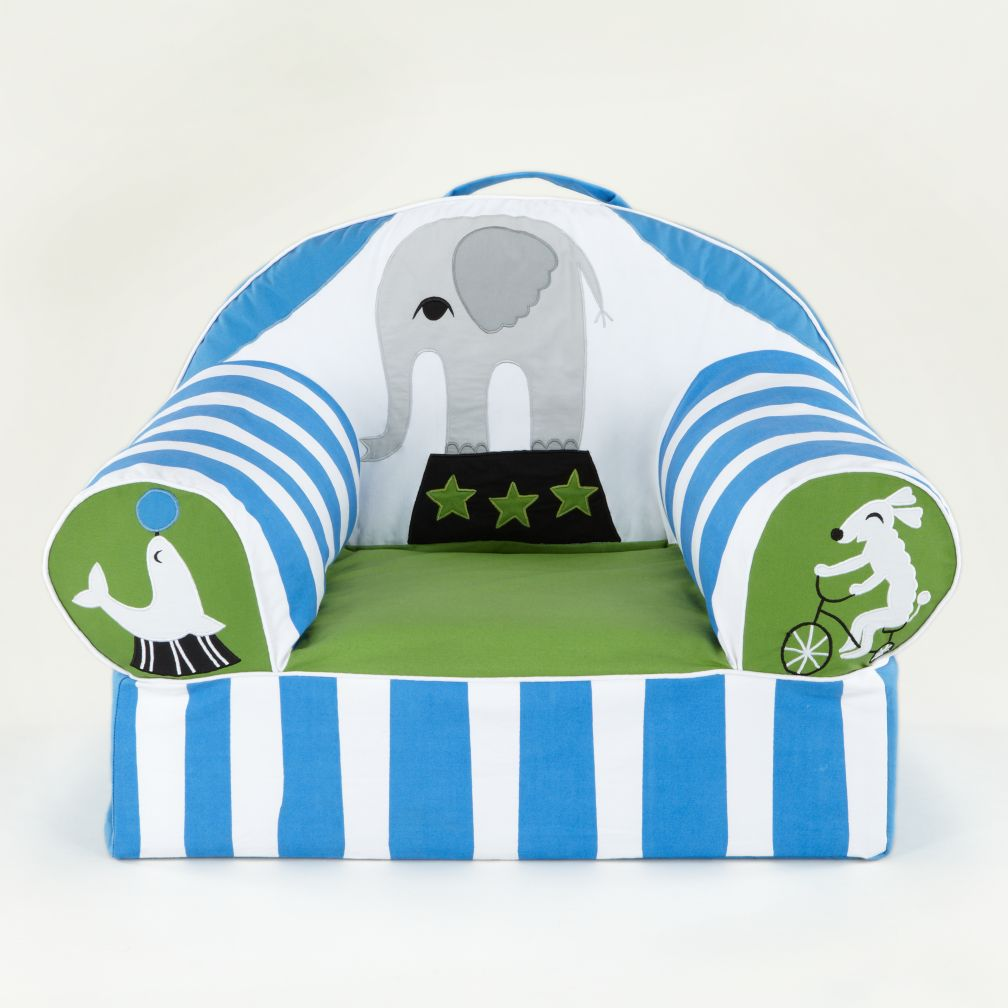 Circus Nod Chair Cover (Blue)