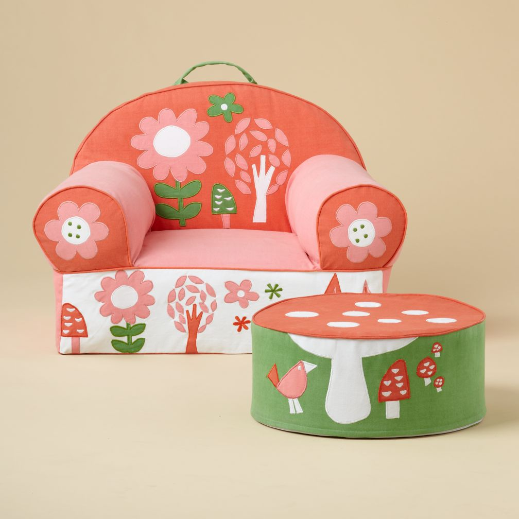Flower Nod Chair and Ottoman