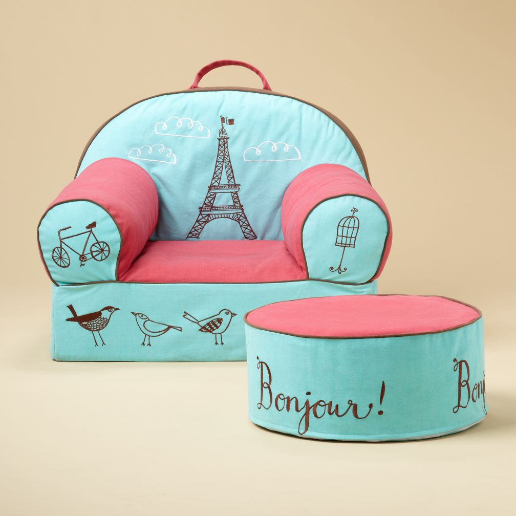 Paris Nod Chair and Ottoman