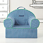 Personalized Blue Gingham Nod Chair(Includes Cover and Insert)