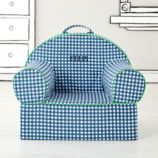 Executive Personalized Nod Chair Cover (Blue Gingham)