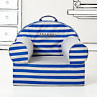 Personalized Blue Rugby Stripe Nod Chair(Includes Cover and Insert) Free embroidered personalization