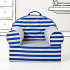 Blue Rugby Stripe Nod Chair Cover