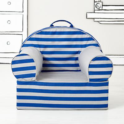 Rugby Stripe Nod Chair Cover (Blue Rugby Stripe)