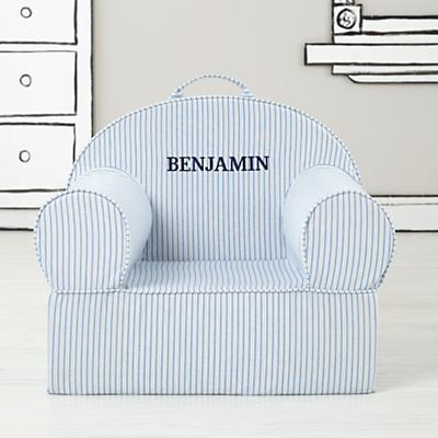 Executive Personalized Nod Chair (Blue Ticking Stripe)