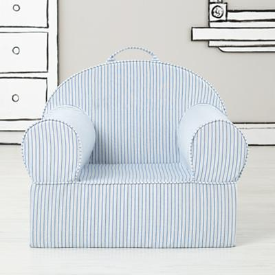 Executive Nod Chair Cover (Blue Ticking Stripe)