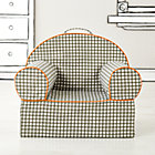 Grey Gingham Nod Chair Cover