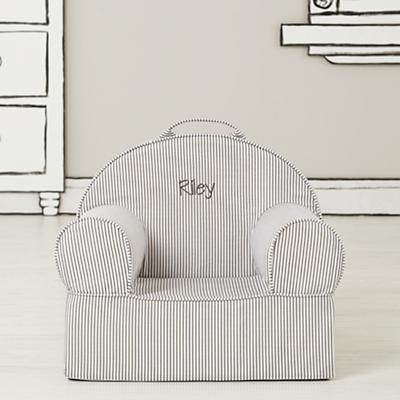 Entry Level Personalized Nod Chair Cover (Grey Stripe)