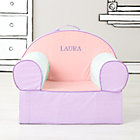 Personalized Pink Piece Stripe Nod Chair CoverFree embroidered personalization