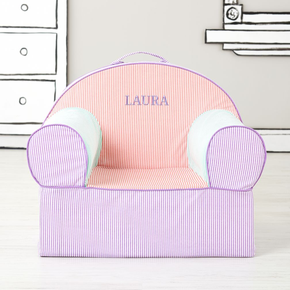 Exective Personalized Nod Chair (Pink Piece Stripe)