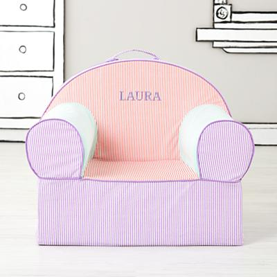 Executive Personalized Nod Chair Cover (Pink Piece Stripe)