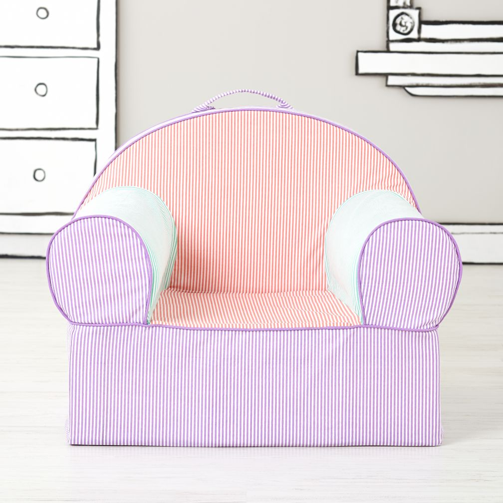 Executive Nod Chair Cover (Pink Piece Stripe)