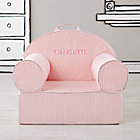 Personalized Pink Tick Stripe Nod Chair CoverFree embroidered personalization
