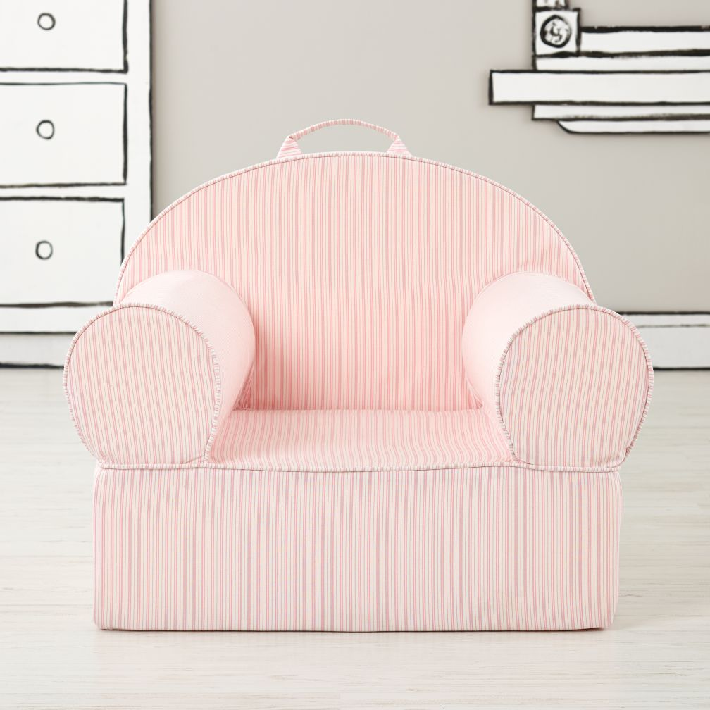Executive Personalized Nod Chair Cover (Pink Ticking Stripe)