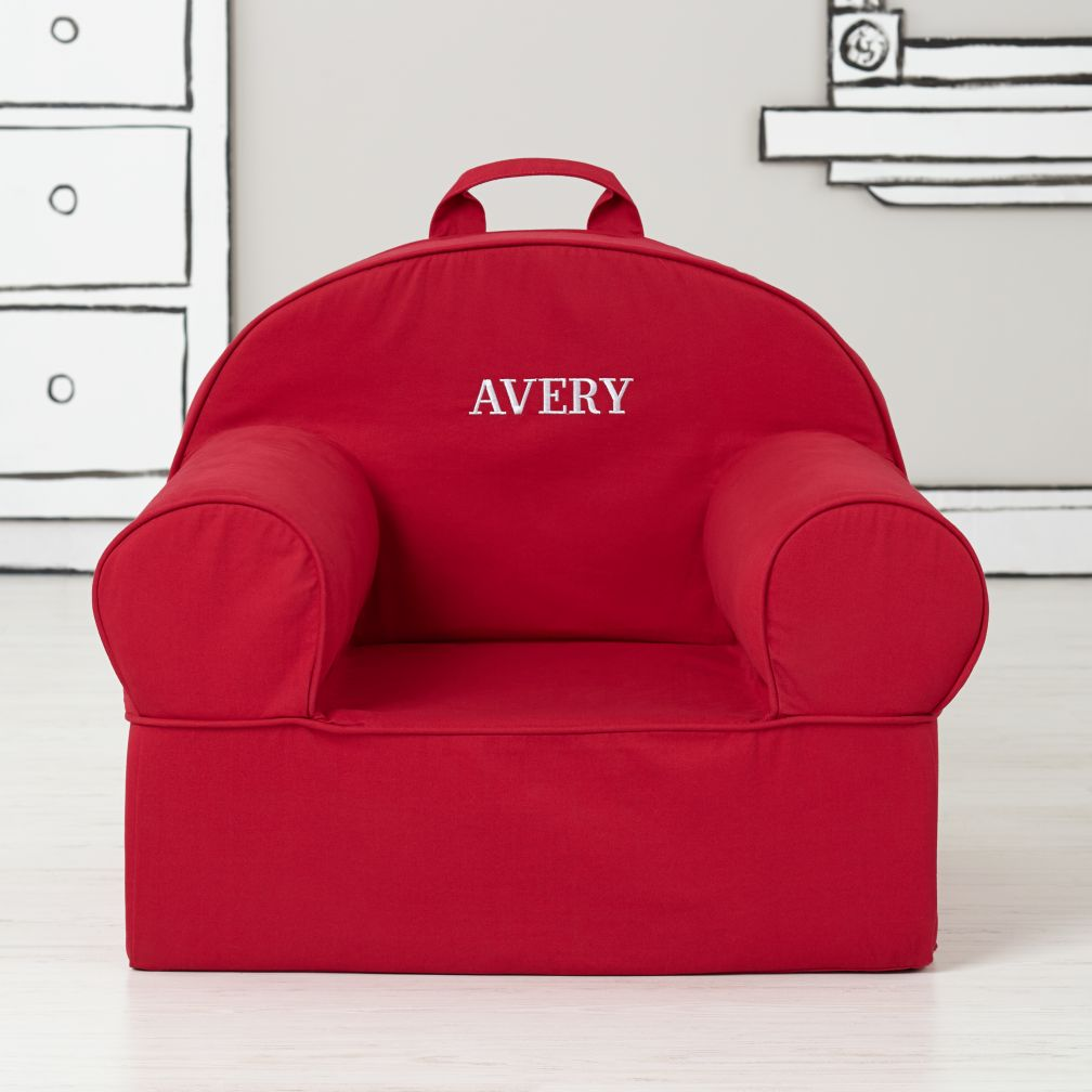 Executive Personalized Nod Chair Cover (Red)
