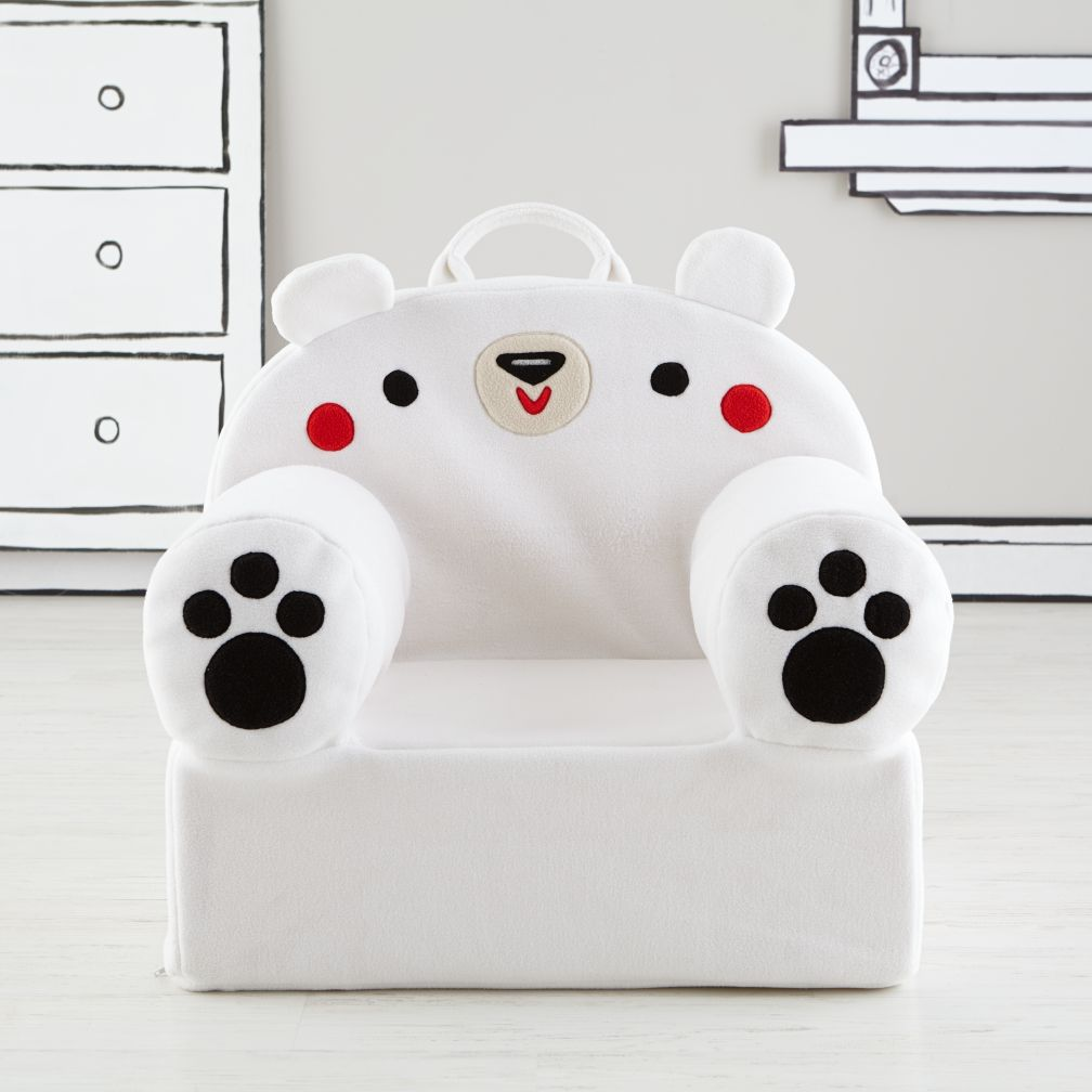 Executive Fuzzy Pet Nod Chair (Polar Bear)