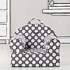 Personalized Grey Dot Mini Nod Chair