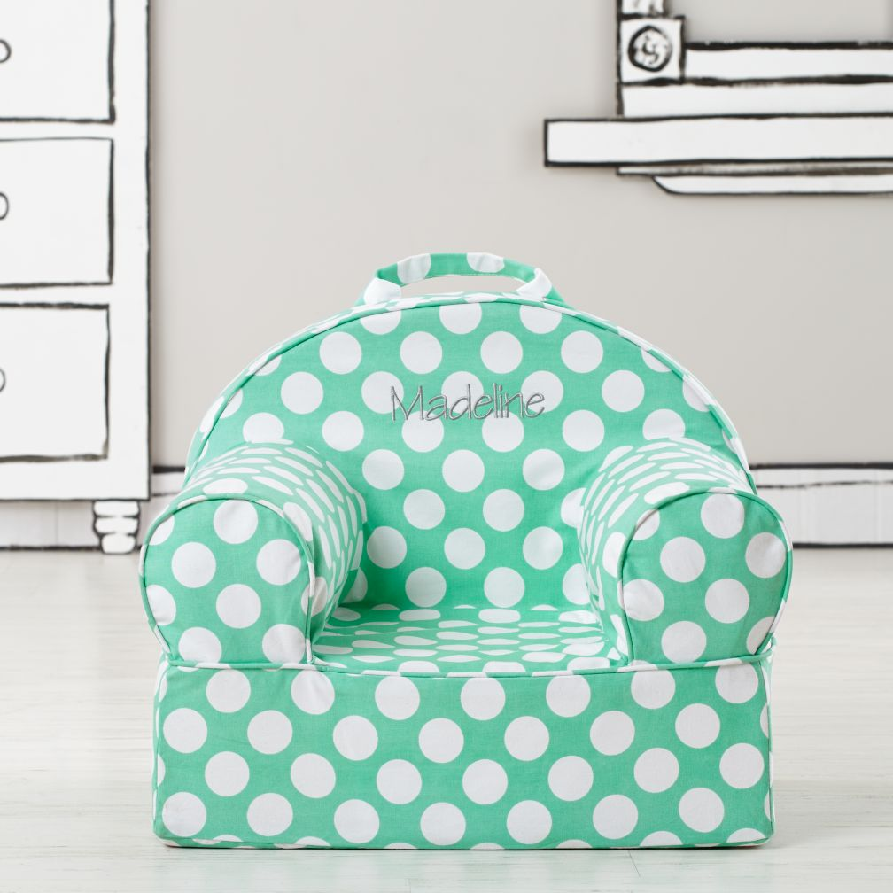 Personalized Entry Level Nod Chair Cover (Lt. Green Dot)