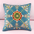Cover Only Petal Et Al Blue Floral Throw Pillow