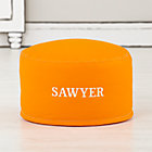 Personalized Orange One-Seater Cover
