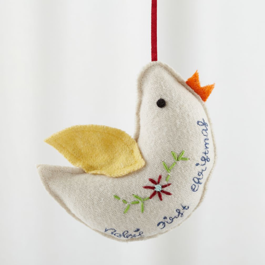 Baby's First Christmas Dove Ornament