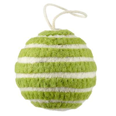 Bright Stripes Ornament (Green)
