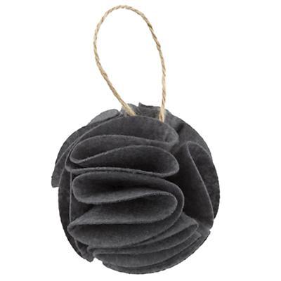 Grey Frilled Felt Ornament