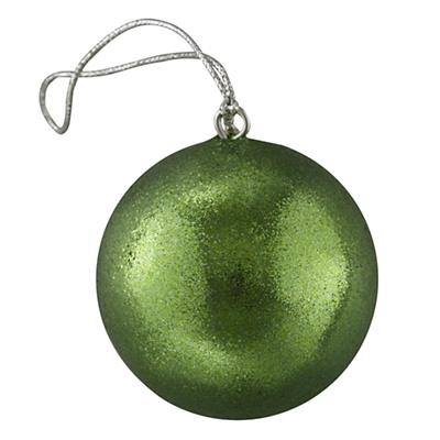 Green Glitter Ornament